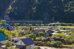 Montagnes de village de photo Photo libre de droits
