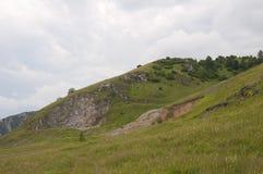 Montagnes de village de photo Photographie stock