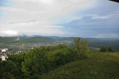 Montagnes de village de photo Image libre de droits