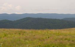 Montagnes de village de photo Images libres de droits