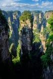 Montagnes de Zhangjiajie, Chine photographie stock