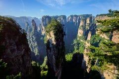 Montagnes de Zhangjiajie, Chine photo libre de droits