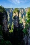 Montagnes de Zhangjiajie, Chine photos libres de droits