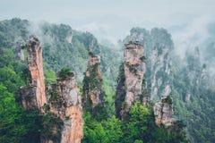 Montagnes de Zhangjiajie, Chine images libres de droits