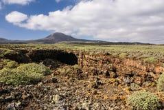Montagnes du feu, Montanas del Fuego, Timanfaya.i photographie stock libre de droits