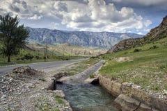Montagnes du Kirghizistan du sud Image stock