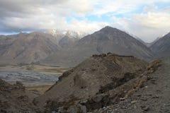 Montagnes du Tadjikistan (vallée de Vakhan) Image libre de droits