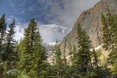Montagnes en début de l'été - Jasper National Park, Canada Photos libres de droits