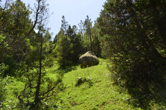 Montagnes en gorge de Galuyan, Kirghizistan Photo stock