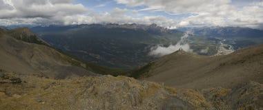 Montagnes en Jasper National Park Photographie stock libre de droits