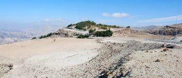 Montagnes en Jordanie. Sur la route à PETRA Photo libre de droits