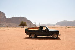 Montagnes en Jordanie, Wadi Rum Image libre de droits