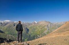 Montagnes en le Kyrgyzstan Photographie stock libre de droits