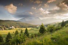 Montagnes en parc national images libres de droits