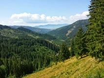 Montagnes en Roumanie Photographie stock