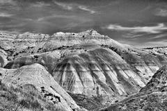 Montagnes en Utah - noir et blanc Photos stock