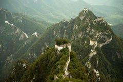 Montagnes escarpées de la Chine de Grande Muraille de Jiankou images stock