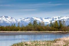 Montagnes et côte Photo libre de droits