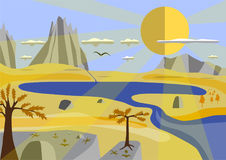 Montagnes et ciel d'automne Photographie stock libre de droits