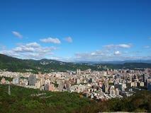 Montagnes et constructions Image libre de droits