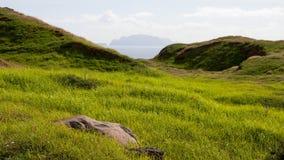 Montagnes et falaises de la Madère Photos stock