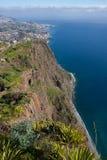 Montagnes et falaises de la Madère Photo libre de droits
