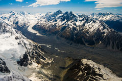 Montagnes et glacier Nouvelle Zélande Images libres de droits