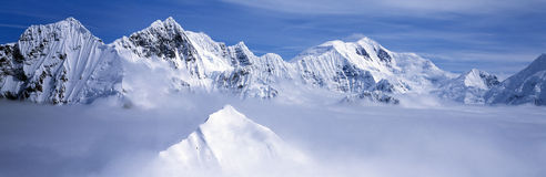 Montagnes et glaciers Photo stock