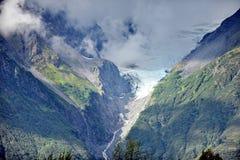 Montagnes et glaciers de l'Alaska image libre de droits
