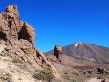 Montagnes et grandes formations de roche Ténérife Image stock