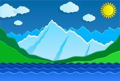Montagnes et lac Photos stock