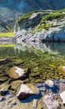 Montagnes et lacs, montagnes de Tatra, Slovaquie Panorama Photos stock