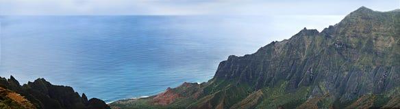 Montagnes et mer Images libres de droits