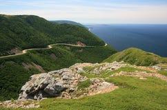 Montagnes et océan de la Nouvelle-Écosse Photographie stock
