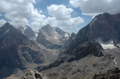 Montagnes et vallée raboteuses Image libre de droits