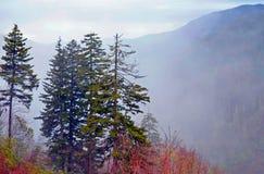 Montagnes fumeuses Photos stock