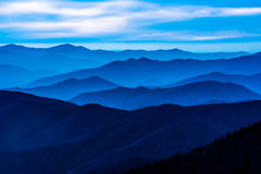 Montagnes fumeuses au dôme de Clingman Photographie stock