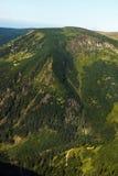 Montagnes géantes, colline de Studnicni, République Tchèque Image libre de droits