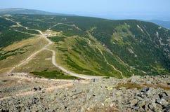 Montagnes géantes en Pologne Photographie stock libre de droits