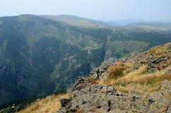 Montagnes géantes en Pologne Photos stock