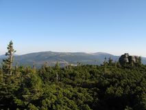 Montagnes géantes en Pologne et Tchèque Photographie stock libre de droits