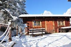 Montagnes géantes/Karkonosze, hiver de Karpacz Images stock