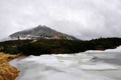 Montagnes géantes, République Tchèque Image stock