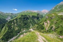 Montagnes géorgiennes Photo libre de droits
