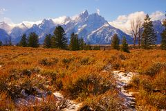Montagnes grandes de Teton Photos libres de droits