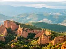 Montagnes historiques d'extraction de l'or de Las Medulas Photo libre de droits