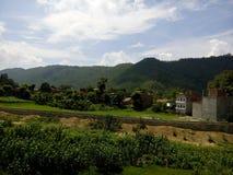 Montagnes impressionnantes du Népal image libre de droits