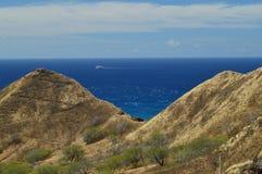 Montagnes jumelles chez Diamond Head photo libre de droits