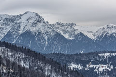 Montagnes majestueuses de Bucegi Images stock