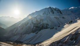 Montagnes, Népal Photographie stock